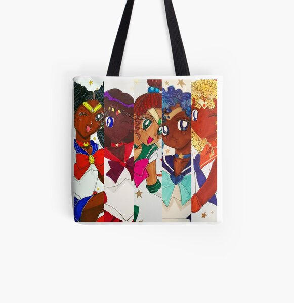 Sailor Scouts All Over Print Tote Bag