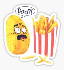 French Fry Sticker Sticker