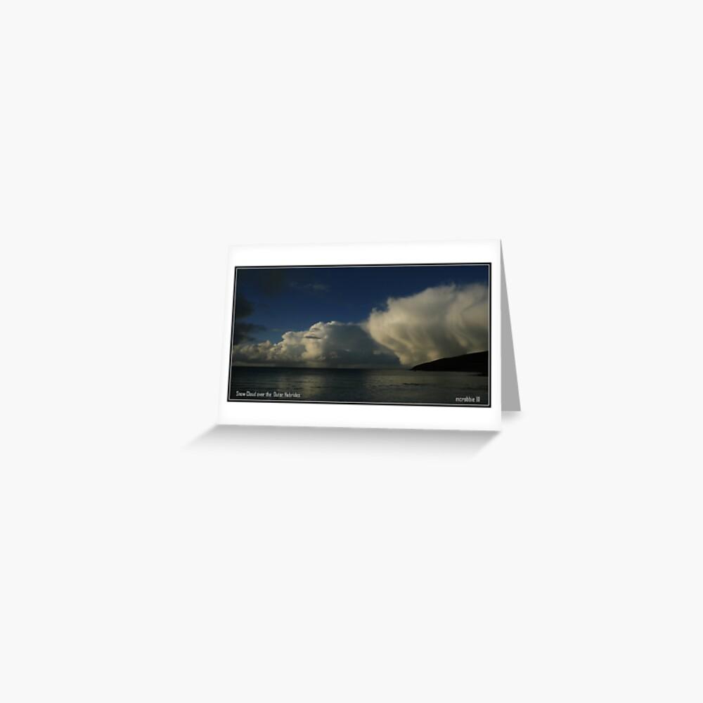 Snow Cloud  Greeting Card