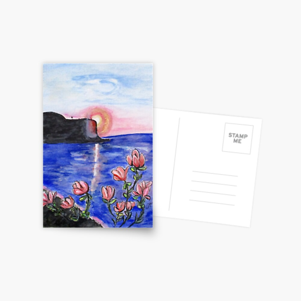 Pink Sunset Postcard