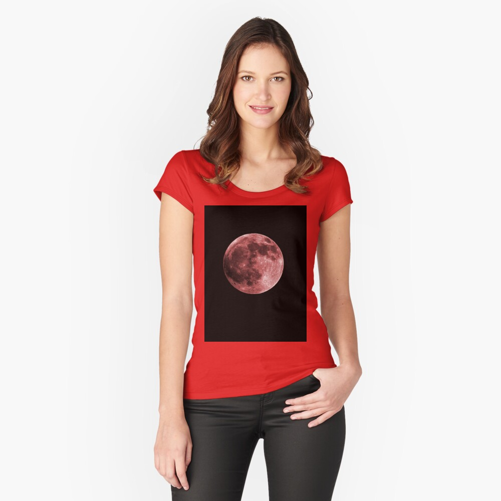 When the day is over....The witches are hunting....Your soul and your blood..And if you can't escape..They take all that you've got...Burning the witches Women's Fitted Scoop T-Shirt Front