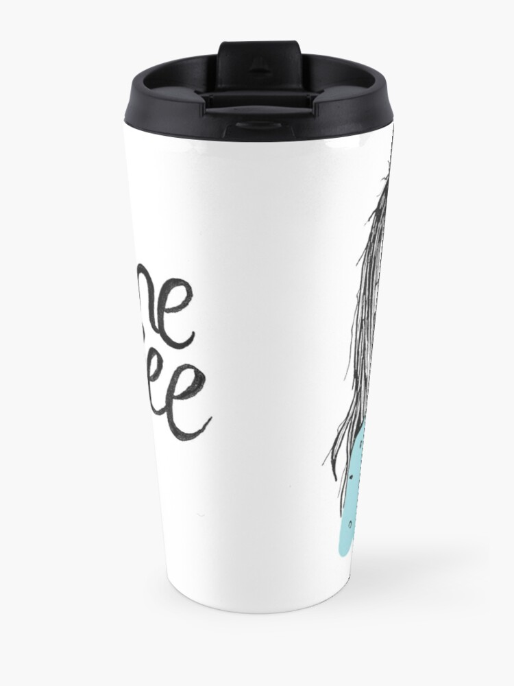 Alternate view of Give me coffee - Drawing Travel Mug