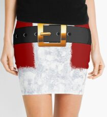 Santa Claus Suit Fashion Statement Mini Skirt