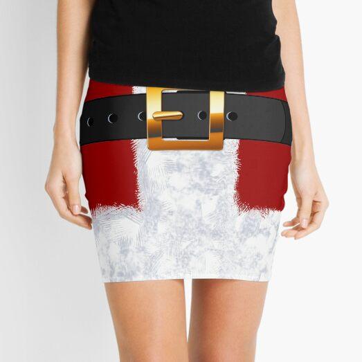 Santa Claus Suit Fashion Statement Mini Skirt
