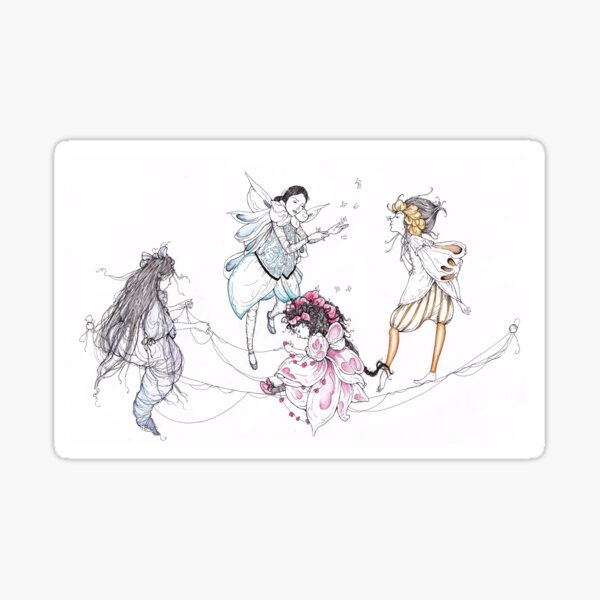 midsummer night's fairies Sticker