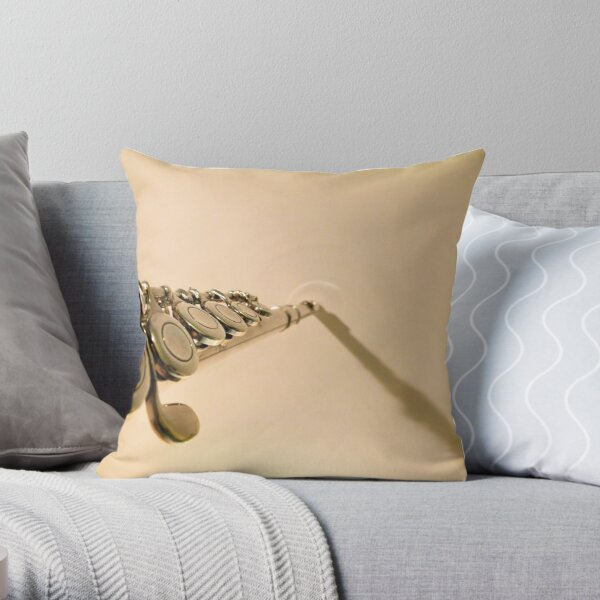 Fading Notes Throw Pillow