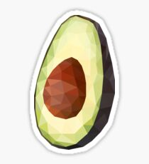 Avocado - Niedriges Poly Sticker