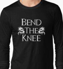 Bend The Knee Two Dragon design Game of Thrones fan T-Shirt