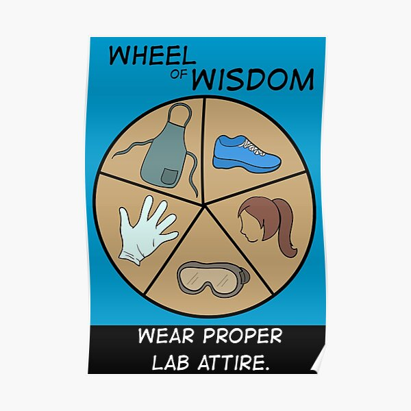 Lab Safety Poster #3 - Wear Proper Lab Attire Poster