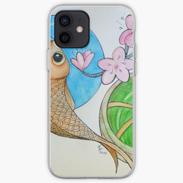 Karp and Cherry blooms iPhone Soft Case