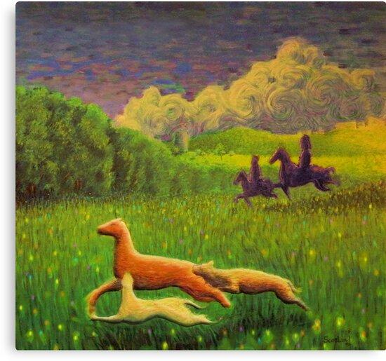 Pictish hunting scene by Calgacus