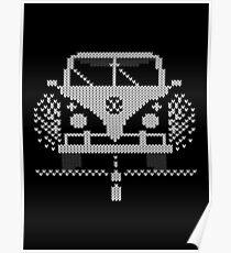 Knit Style Volks Camper Van Poster