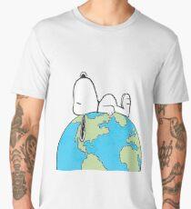 The Peanuts - Snoopy Earth Men's Premium T-Shirt