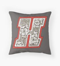 Haverford Logo OR Monogram H  Throw Pillow