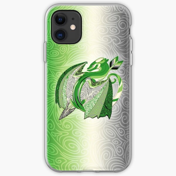 Aromantic Pride Dragon iPhone Soft Case