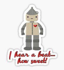 Tin Man Heart Beat Sticker
