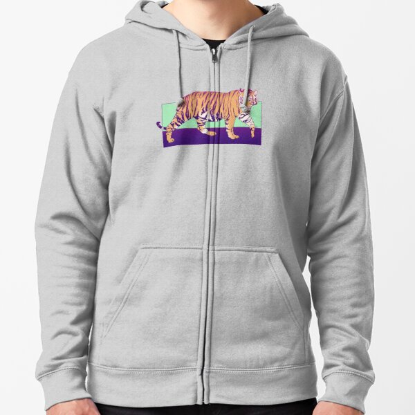 Tiger Under the Sun Zipped Hoodie