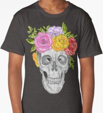 Skull Flowers Long T-Shirt