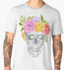 Skull Flowers Men's Premium T-Shirt