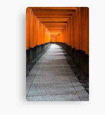 Kyoto Red Gates 2 Canvas Print