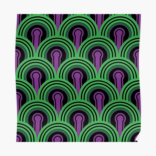 Overlook Hotel Carpet from The Shining: Purple/Green Poster