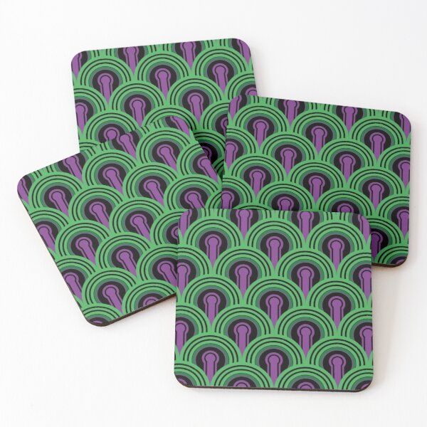 Overlook Hotel Carpet from The Shining: Purple/Green Coasters (Set of 4)
