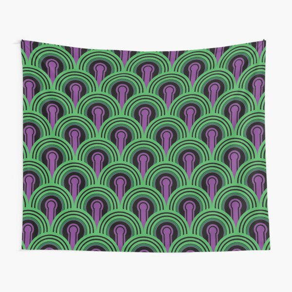 Overlook Hotel Carpet from The Shining: Purple/Green Tapestry