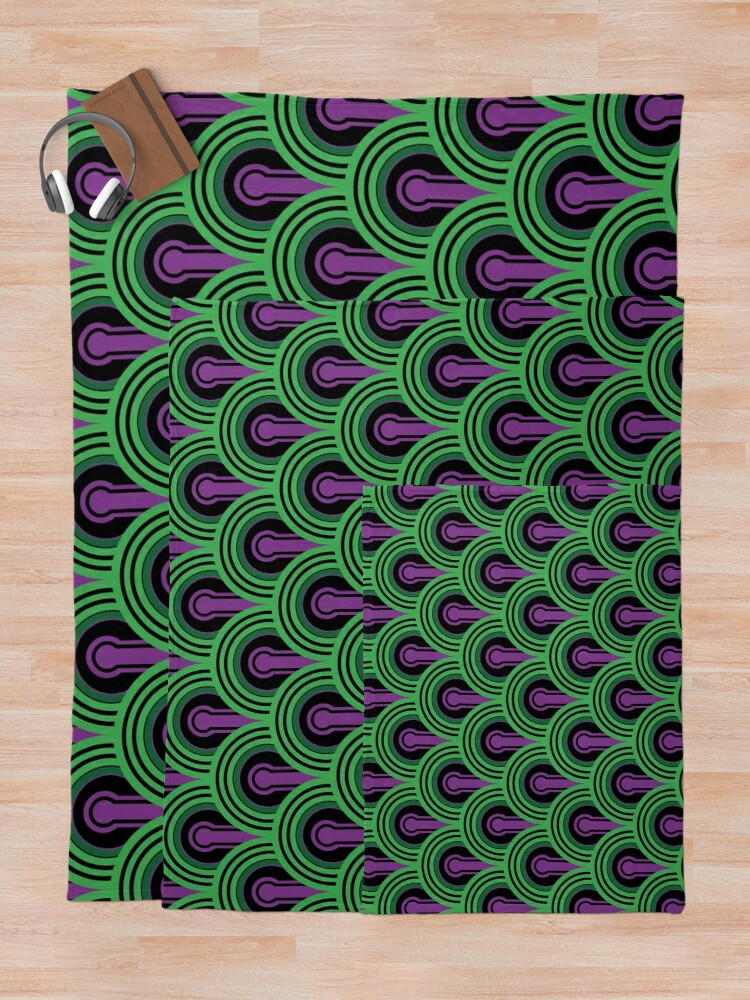 Alternate view of Overlook Hotel Carpet from The Shining: Purple/Green Throw Blanket