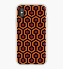 Overlook Hotel Teppich von The Shining: Orange / Rot iPhone-Hülle & Cover