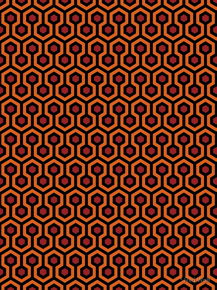 Overlook Hotel Carpet from The Shining: Orange/Red/Black by redwolfoz