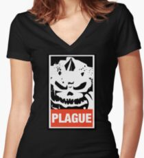 Plague Lord Wargaming Meme Women's Fitted V-Neck T-Shirt