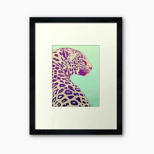 Leopard under the Sun Framed Art Print