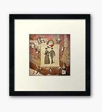 Vintage Collage - Happy Couple  Framed Print