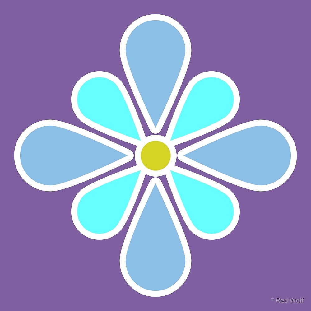 Pastel Blue Flower by * Red Wolf