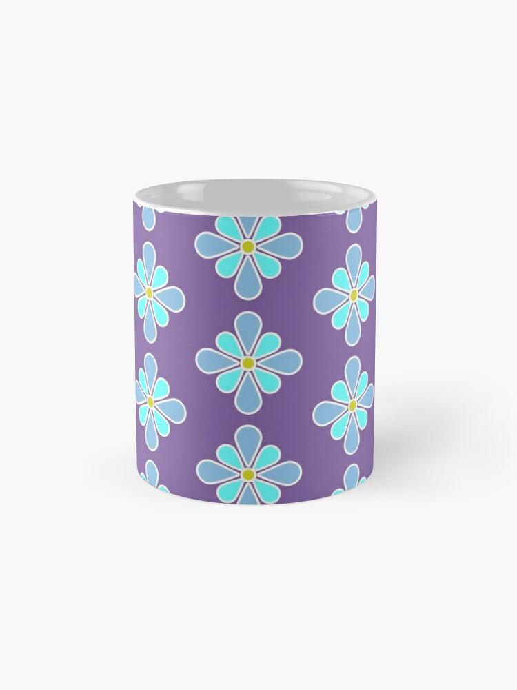 Alternate view of Pastel Blue Flower Mugs