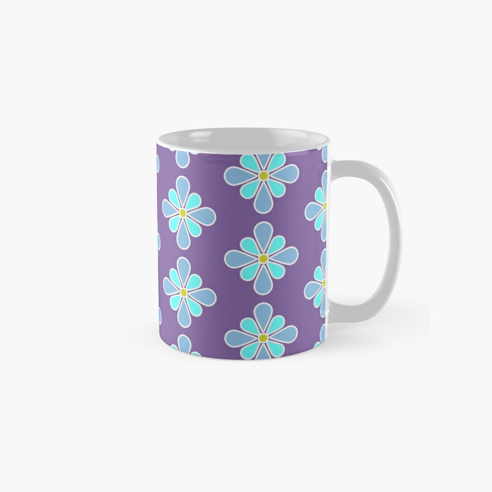 Pastel Blue Flower Mugs