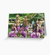 Polynesian dancers Greeting Card