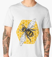 Honeybee Honeycomb Men's Premium T-Shirt