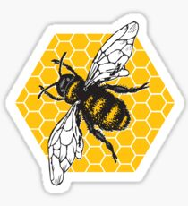 Honeybee Honeycomb Sticker