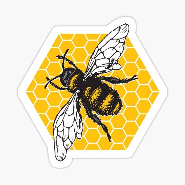 Honeybee Honeycomb Sticker