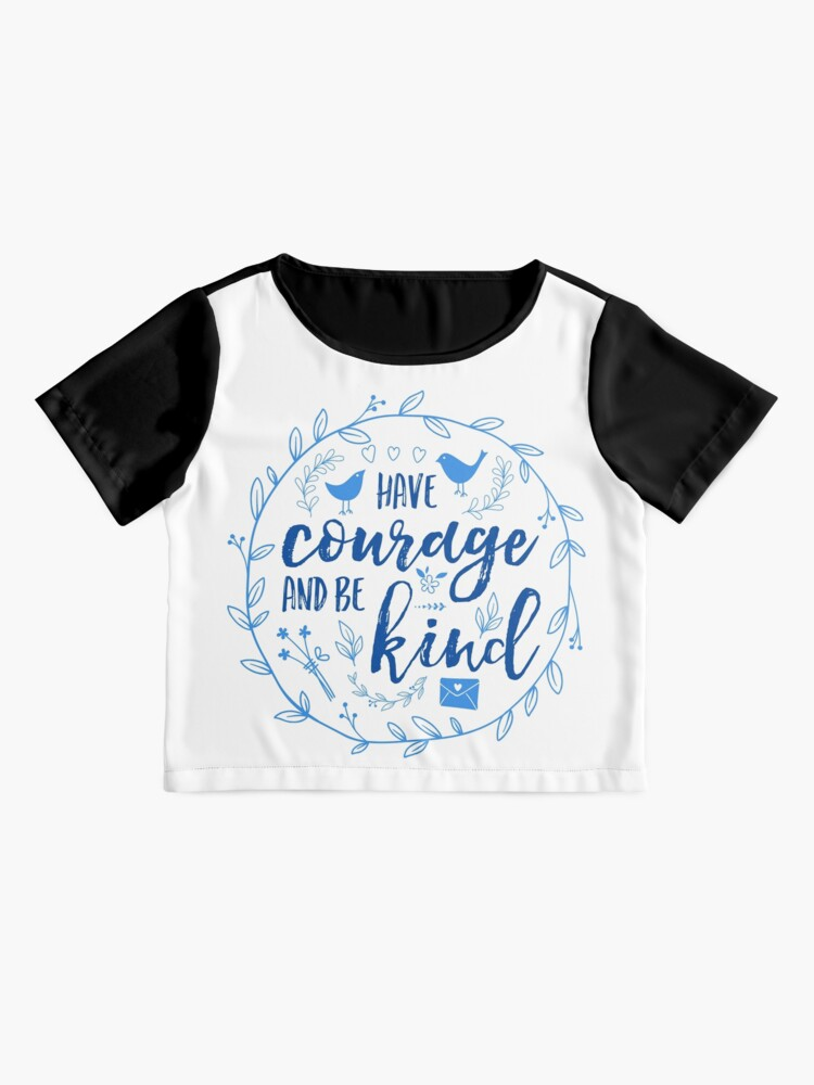 Alternate view of Have Courage and Be Kind Typography Cobalt Blue Chiffon Top