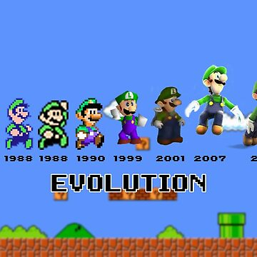 The Evolution of Luigi by BowserBasher