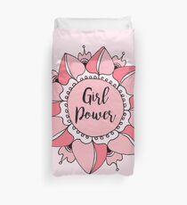 Girl Power Pink Mandala Duvet Cover