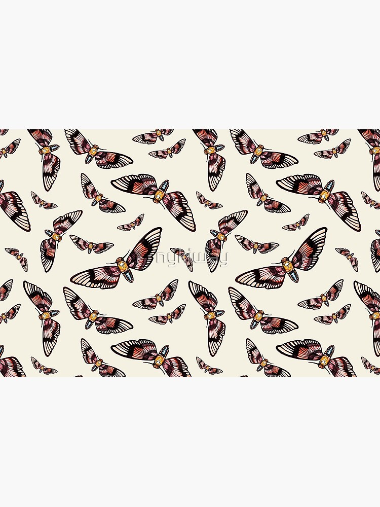 Watercolor Moth Pattern by nykiway