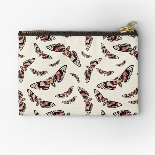 Watercolor Moth Pattern Zipper Pouch