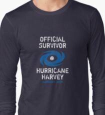 Official Survivor Hurricane Harvey Texas  Long Sleeve T-Shirt