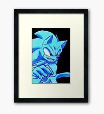 Sonic the Hedgehog Black Framed Print