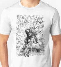 SASQUATCH EATING A SALMON Unisex T-Shirt