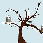Owls in the Tree by whatsandramakes