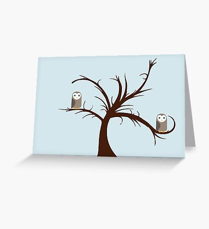Owls in the Tree Greeting Card